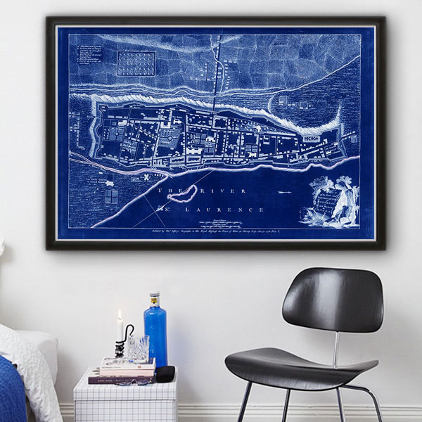 Splash some colour to your walls with this map of Montreal.