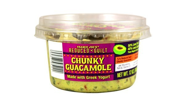 Reduced Guilt Chunky Guacamole with Greek Yogurt
