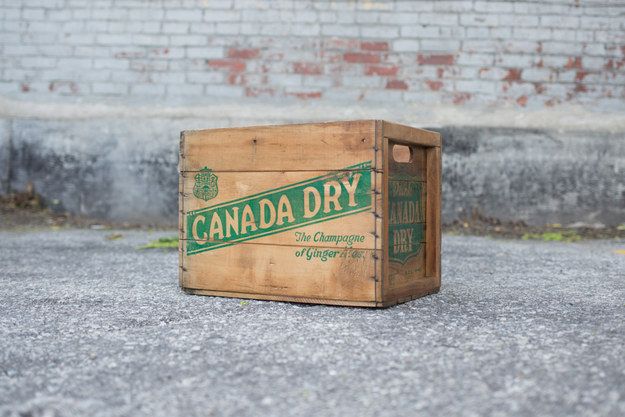 Store your empties in this vintage Canada Dry crate.