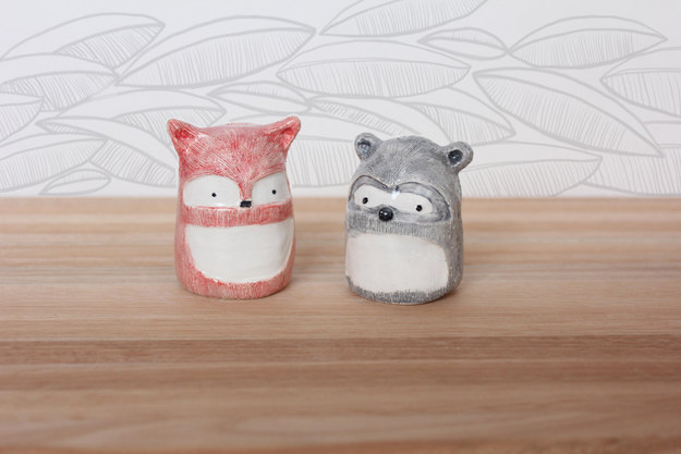 Add some adorable salt and pepper shakers to your kitchen counter.
