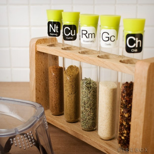 This chemical spice rack.