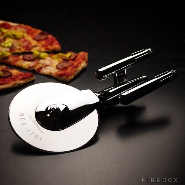 This Star Trek pizza cutter.