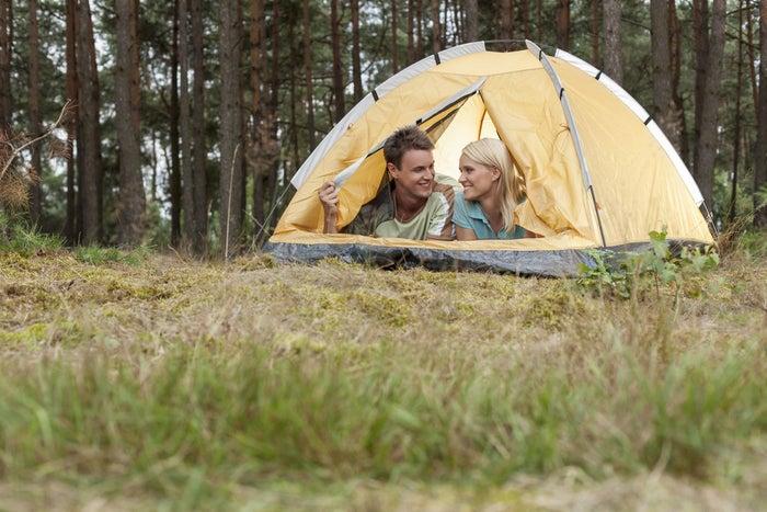 Barraquinha de camping: R$ 100. Daria para parcelar. Se você tivesse cartão de crédito.