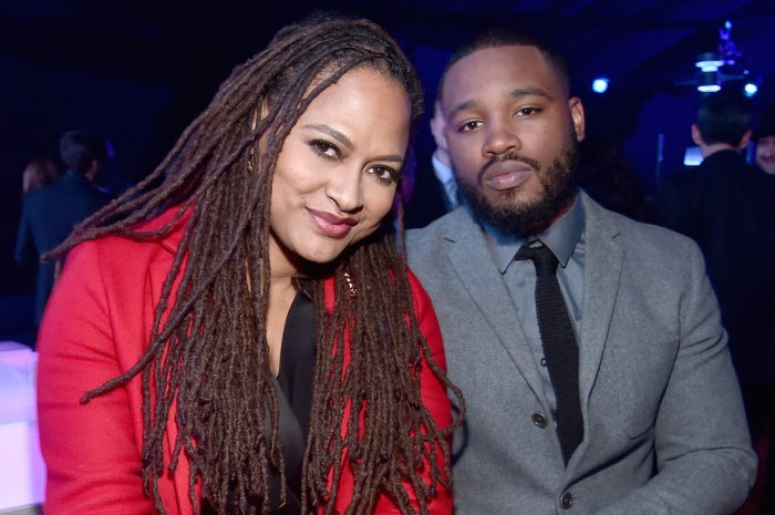 Ava DuVernay and Ryan Coogler in Hollywood on Dec. 14, 2015.