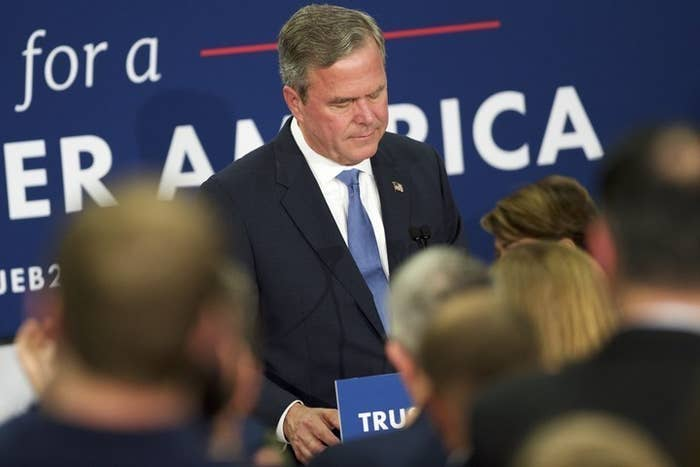 """""""The presidency is bigger than any one person,"""" Bush said, when he took to the stage to announce he was suspending his campaign. """"It is certainly bigger than any one candidate."""""""