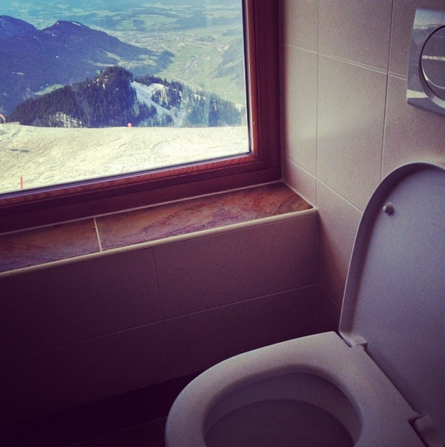 Acima do precipício, na Áustria: