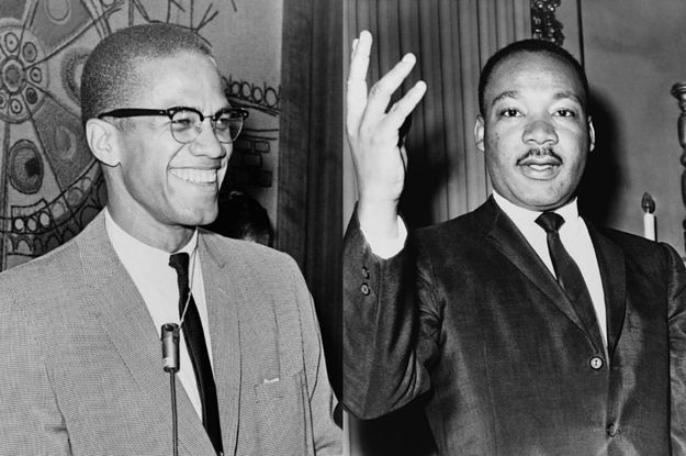Image result for pictures of malcolm x and martin luther king