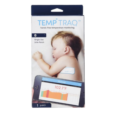 This wearable thermometer sends you mobile alerts when your baby's temperature changes.