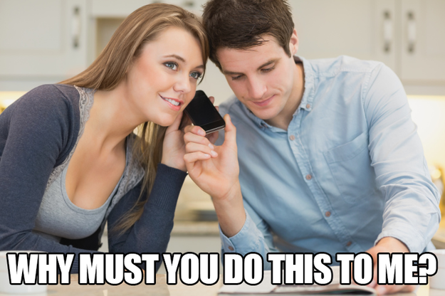 Putting people on blast with unannounced speaker phone.