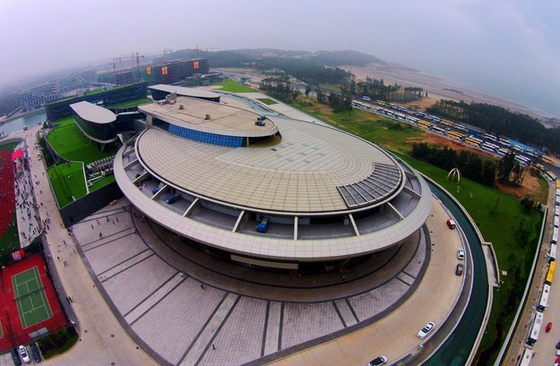 There's this place that looks like the USS Enterprise, built by a Chinese billionaire/Trekkie in Fuzhou, Fujian province.
