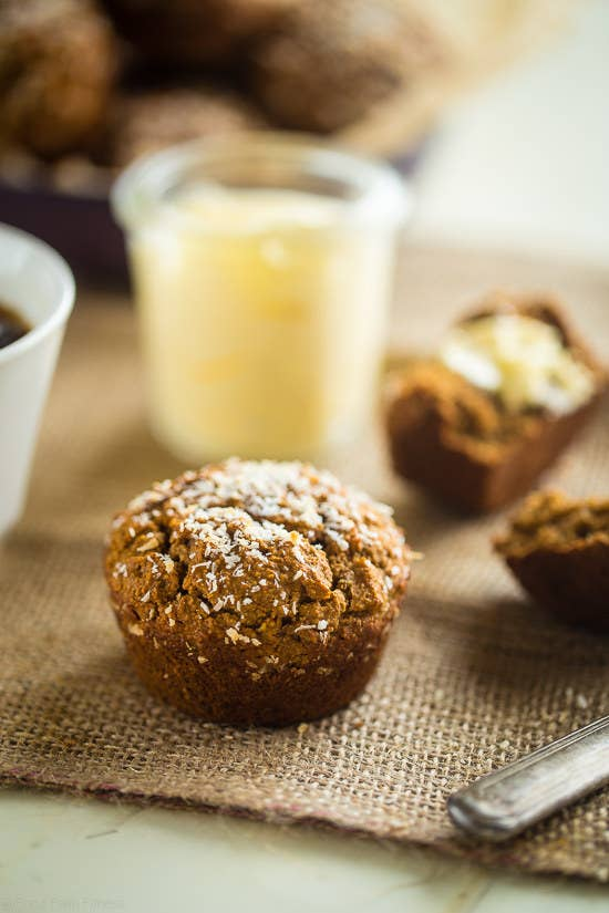 Skip the morning cup of chai and munch it in healthy muffin form instead. Get the recipe here.