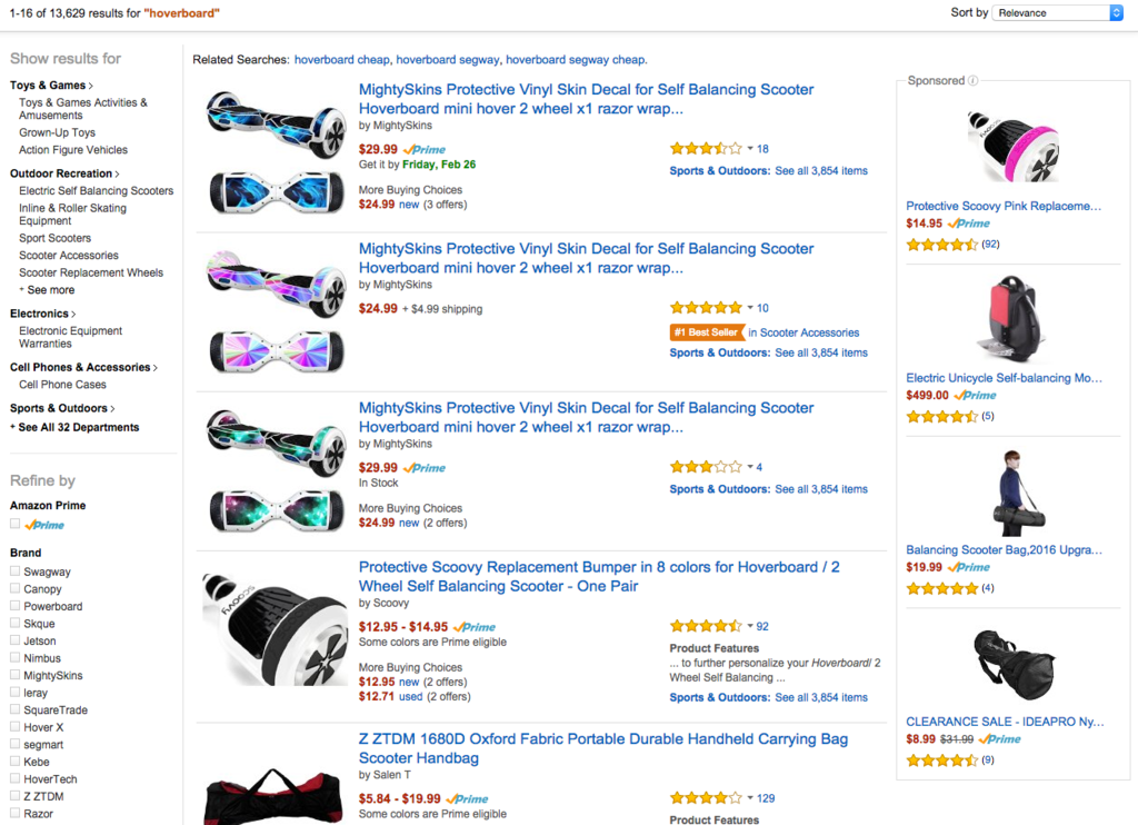 Amazon Pulls Hoverboards From Site After New Safety Warning