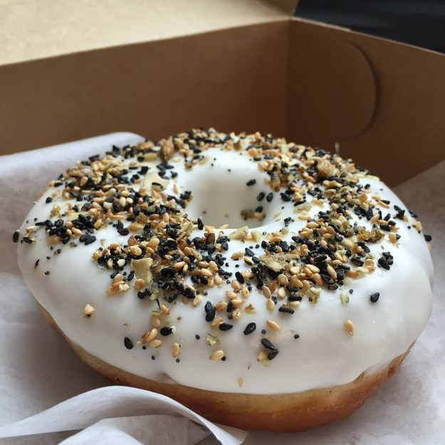 Move over, Cronut, there's a new food hybrid in town. It's called the everything doughnut.