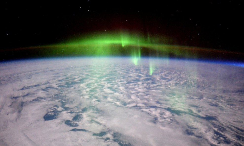 As is the moment the International Space Station flew through an aurora.