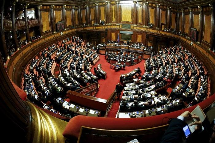 A general view of the Italian Senate in Rome