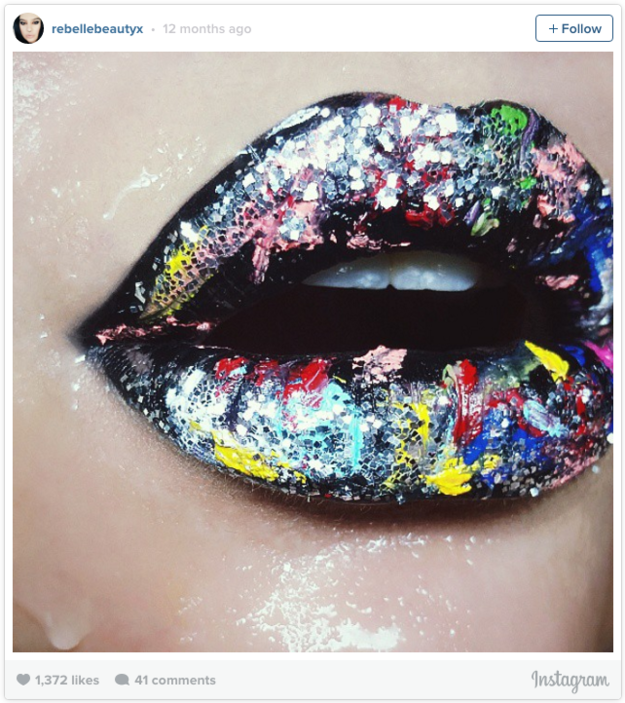 This pout, which could have been painted by Pollock.