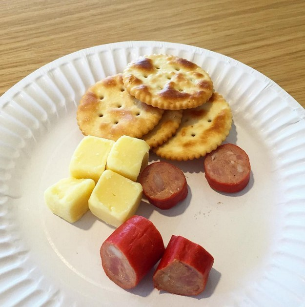 Cabanossi and Cheese Cubes