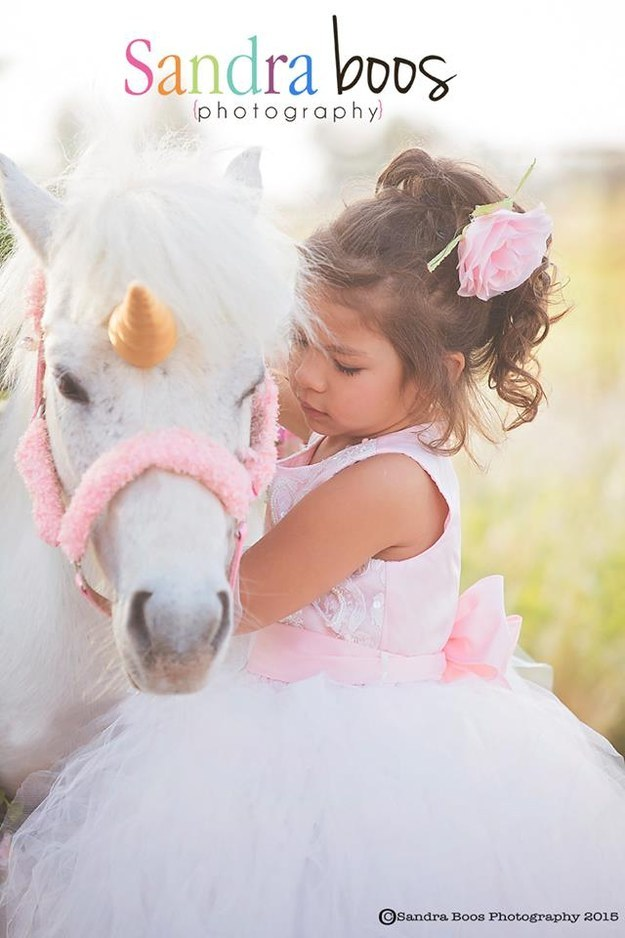 On Wednesday, the 300-pound pony was decked out in her unicorn finest for a photo series when she accidentally broke free from her rope and TOOK OFF.