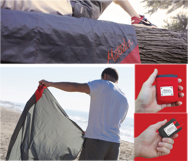 Matador Pocket Blanket ($25) is an ultra compact, water repellent and puncture resistant blanket.