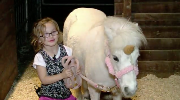 "This is Tatum Boos and her ""unicorn"" Juliet."
