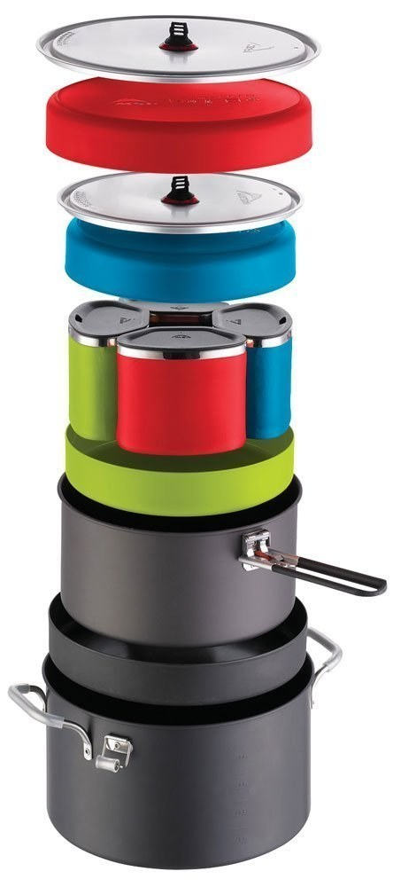 MSR Flex 4 System ($145) stores a million pans and cups for group meals in one pot.