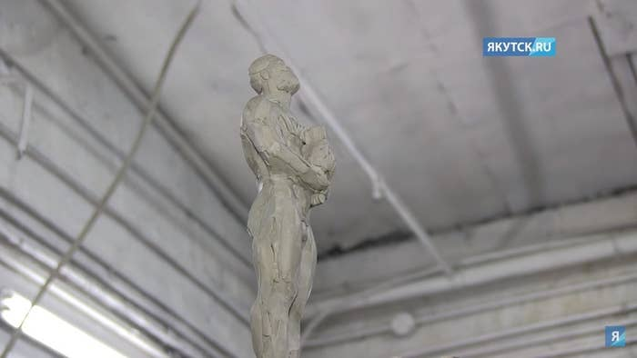 They had begun working with local artists to create their own unique statue — the traditional Oscars figurine, but now holding a choron, a Yakutian symbol of harmony and spiritual strength.