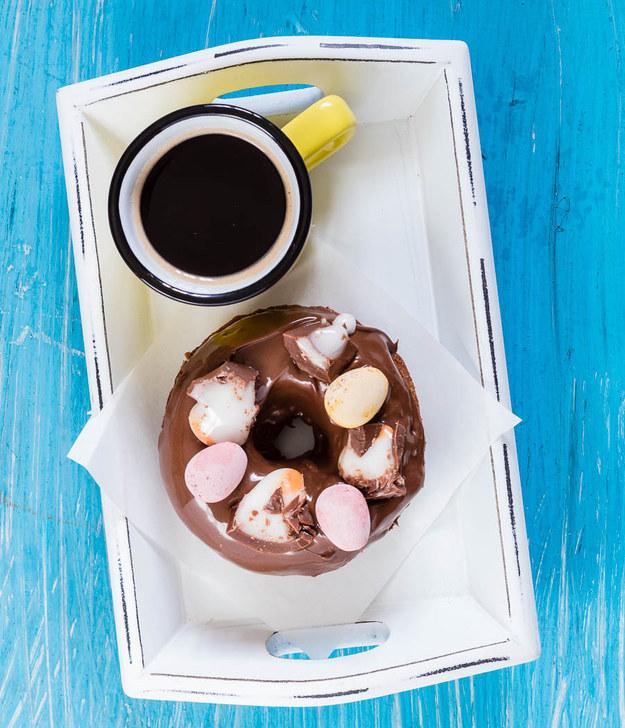Baked Nutella & Cadbury Creme Egg Doughnuts