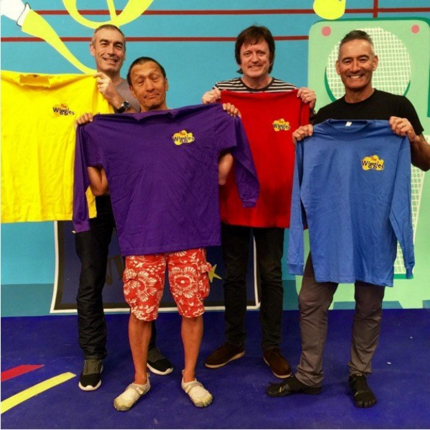This year marks the 25th anniversary of The Wiggles, and to celebrate, the OGs — Greg (Yellow), Anthony (Blue), Murray (Red), and Jeff (Purple) — reunited for a no-kids-allowed show on Friday night.