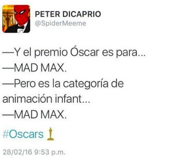 El Nobel de Literatura es para... Mad Max