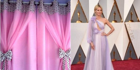 Esta es la cortina que Heidi decidió llevar a la ceremonia.
