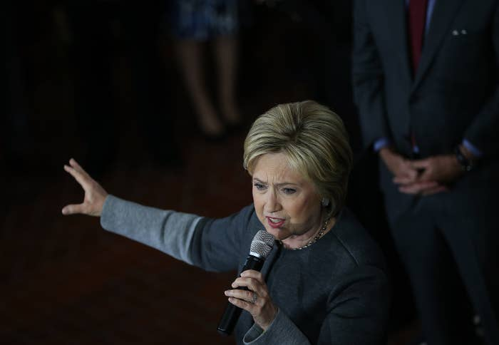 Hillary Clinton speaks in Massachusetts the day before Super Tuesday.