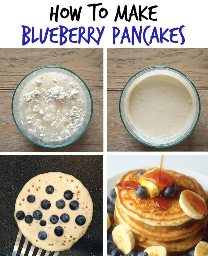 Heres how to instantly upgrade pancakes blueberry banana pancakes ccuart Images