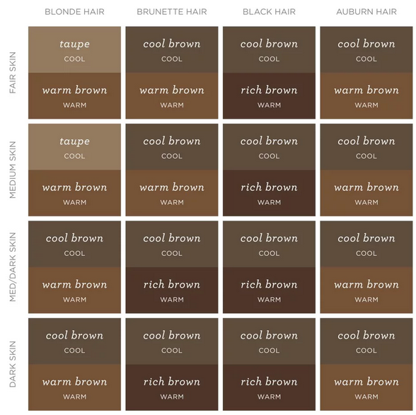 Now it's time to fill in! Check out this chart to find the best color for your brows.