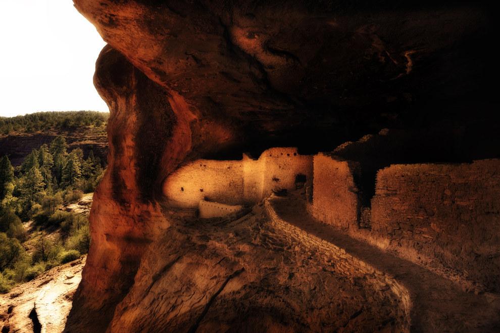 Gila Cliff Dwellings -- Novo México, EUA