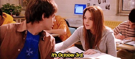 You become very aware of the date.