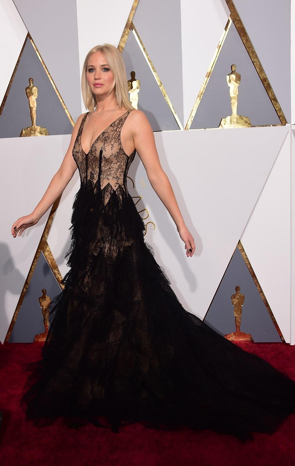 Jennifer Lawrence Wore Two Flawless Black Dresses On Oscar Night