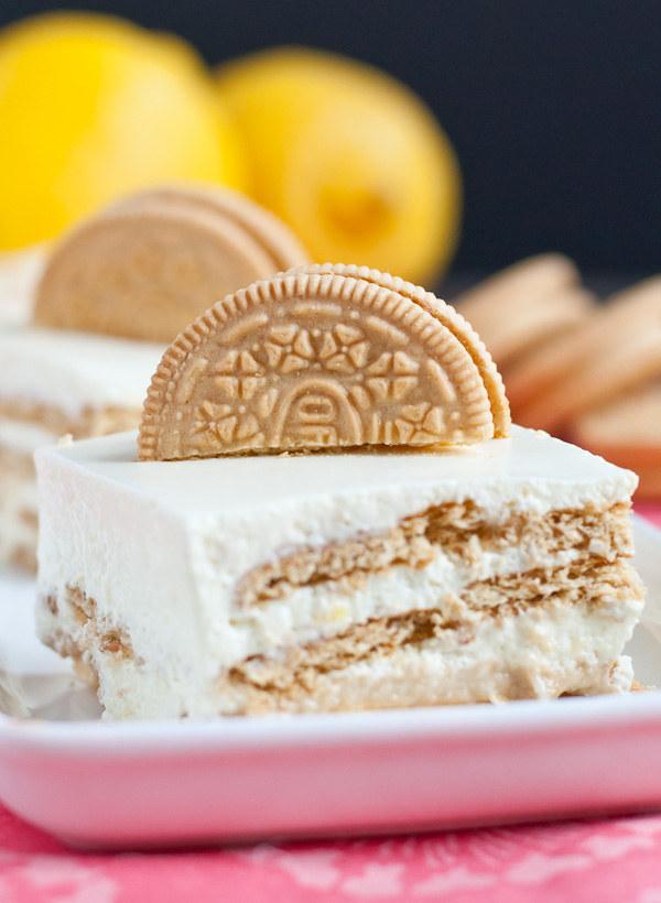 Lemon Oreo Jello Mousse Cake