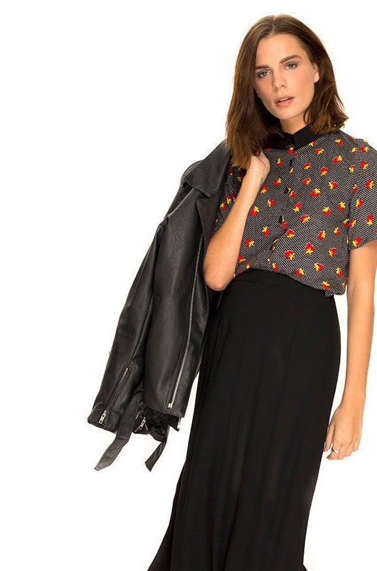 Oversize Shirt in Fruit Polka