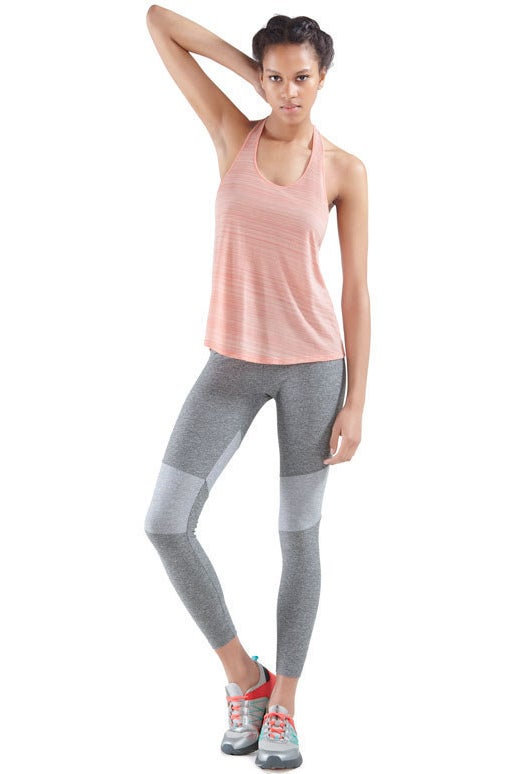 Grey Striped Cropped Leggings, £25.99