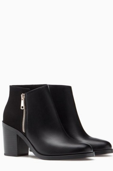 Angle Boots With Zip Detail