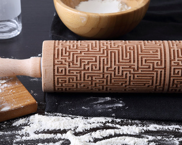 This maze-engraved rolling pin.