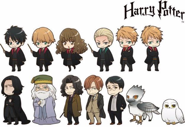 Les Personnages DHarry Potter Ont Une Version Anim Juste Parfaite