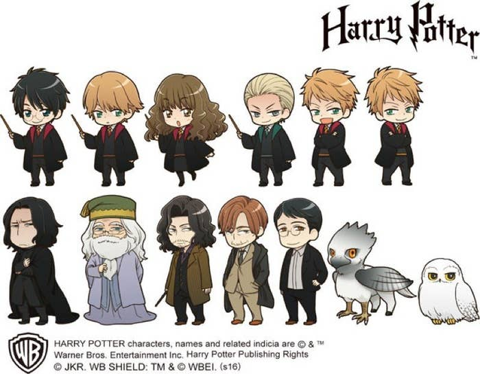 These Official Harry Potter Anime Characters Will Make You