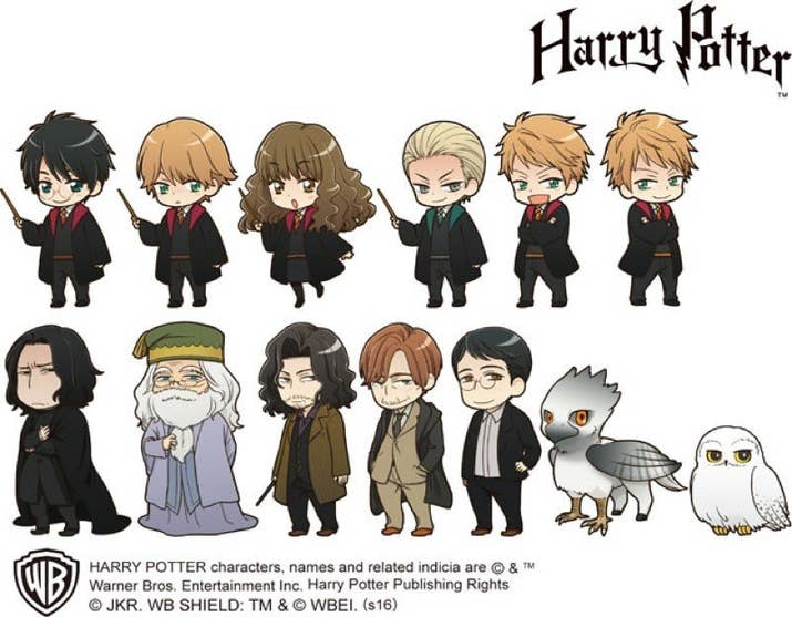 Warner Bros Has Just Licensed The FIRST Ever Collection Of Anime Harry Potter Characters