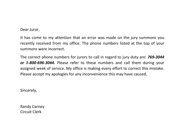 How To Write A Jury Duty Excuse Letter From Employer Jury Letter – Letter of Debit Note