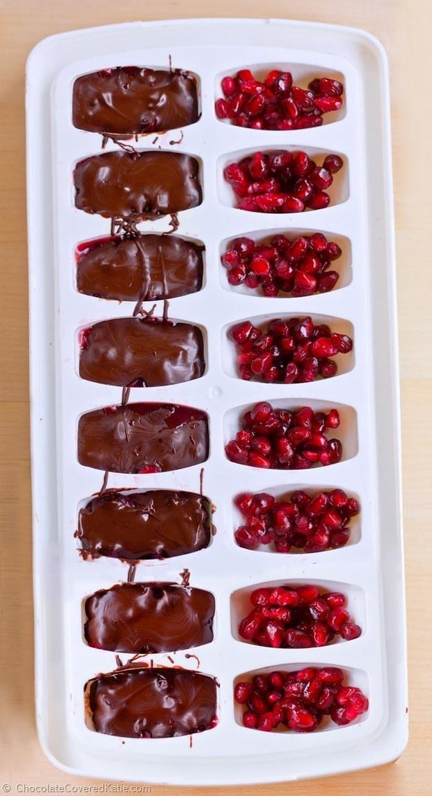 Ice Cube Tray Pomegranate Chocolates