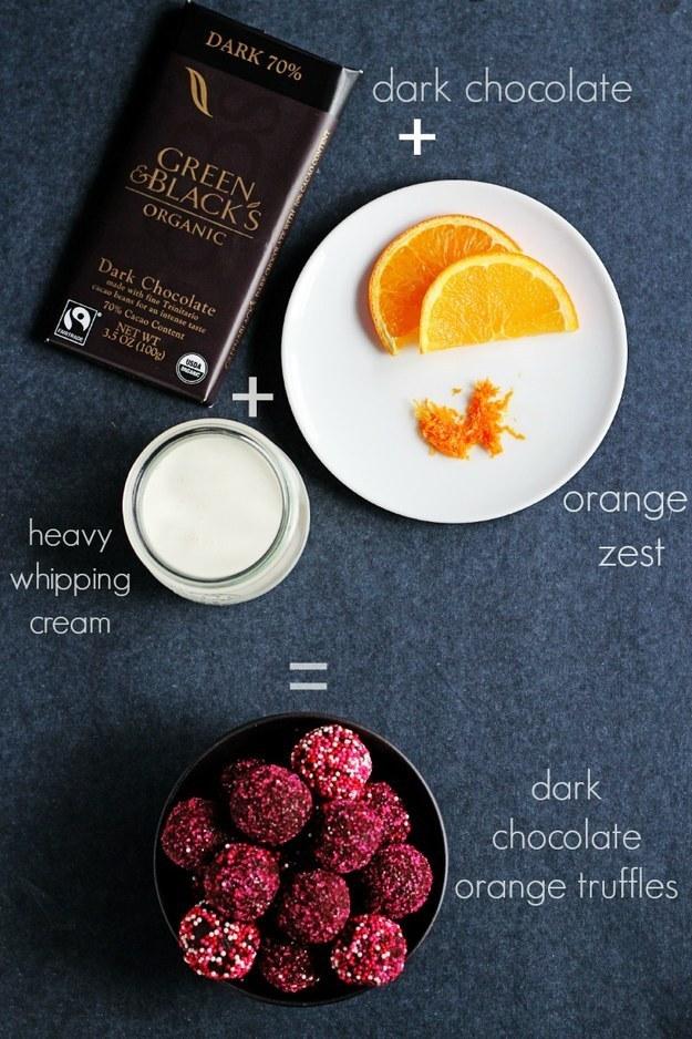 Three-Ingredient Chocolate Orange Truffles