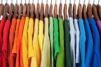 hanging t shirts