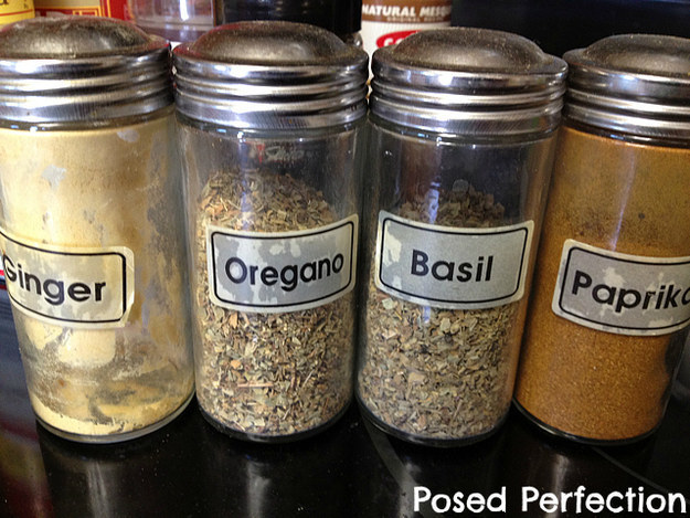 Spend 15 minutes tossing old spices, then putting your spice rack or cabinet back in order.