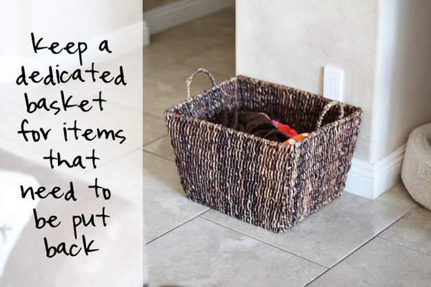 "Then, pick out a nice basket to be your ""put back basket""."